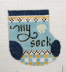 Tooth Fairy Wee Sock (Blue ) hand painted canvases