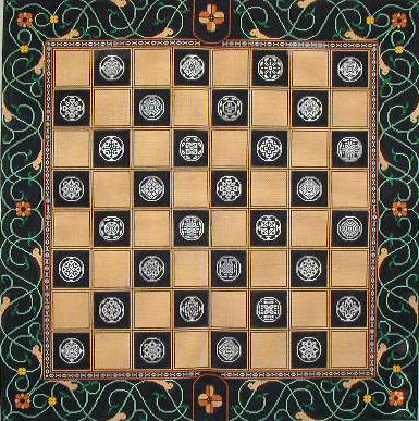 click here to view larger image of Chess (hand painted canvases)