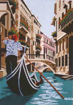 click here to view larger image of Gondolier (hand painted canvases)