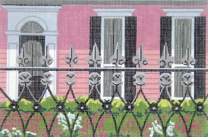 click here to view larger image of Black Shutters (hand painted canvases)