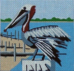 click here to view larger image of Pelican (hand painted canvases)