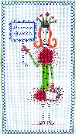 click here to view larger image of Drama Queen (hand painted canvases)