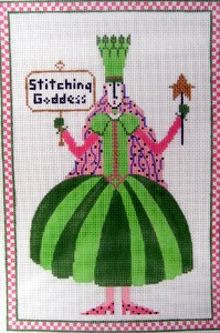 click here to view larger image of Stitching Goddess (hand painted canvases)