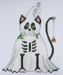 click here to view larger image of Ghost Black Cat (hand painted canvases)