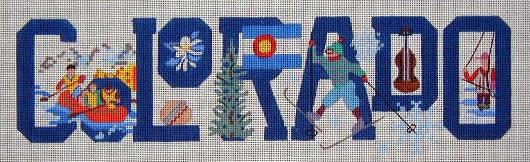 click here to view larger image of Colorado (hand painted canvases)