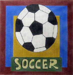 click here to view larger image of Soccer (hand painted canvases)