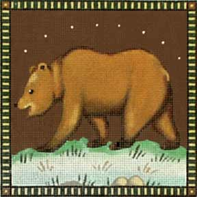 click here to view larger image of Golden Bear (hand painted canvases)