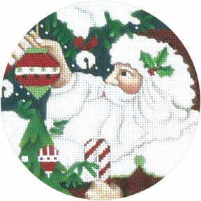 Classic Santa Face hand painted canvases