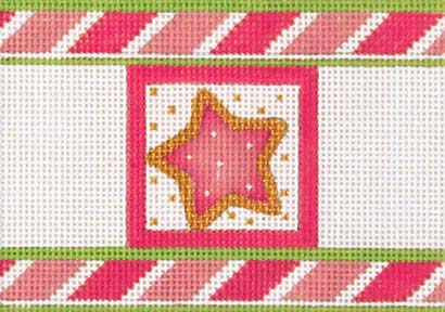 click here to view larger image of Pink Cracker - Star (hand painted canvases)