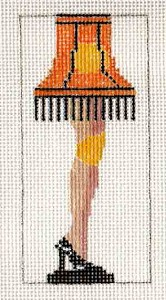 click here to view larger image of A Christmas Story Leg Lamp Needlepoint (hand painted canvases)