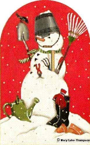 click here to view larger image of Garden Snowman (hand painted canvases)