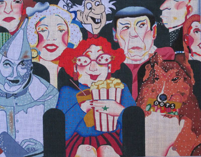 click here to view larger image of Movie Buff (hand painted canvases)