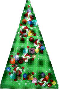 click here to view larger image of Candy Garland Mini Tree (hand painted canvases)
