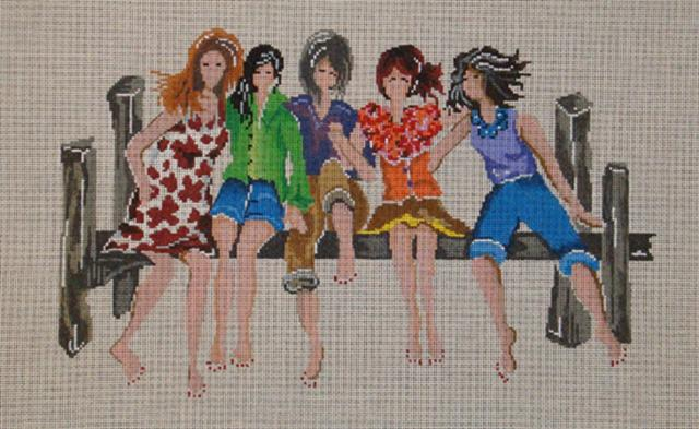 click here to view larger image of 5 Girlfriends (hand painted canvases)