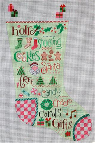 click here to view larger image of Stocking Sampler (hand painted canvases)