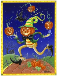 click here to view larger image of Pumpkin Man (hand painted canvases)