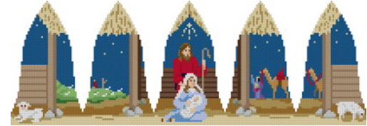 click here to view larger image of Nativity  Bell  (hand painted canvases)