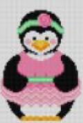 click here to view larger image of Bellerina Penguin (hand painted canvases)