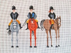 click here to view larger image of 3 Riders on Horses  (hand painted canvases)