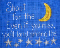 click here to view larger image of Shoot For The Moon ... If You Miss... (hand painted canvases)