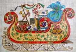 click here to view larger image of Sleigh Cloisonne (hand painted canvases)