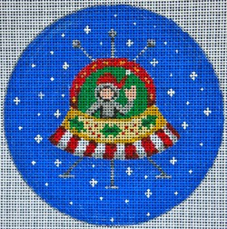 click here to view larger image of Space Pod Ornament (hand painted canvases)