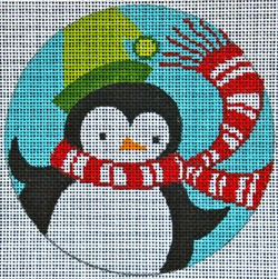 click here to view larger image of Retro Penguin Ornament (hand painted canvases)