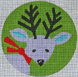 click here to view larger image of Retro Reindeer Ornament (hand painted canvases)