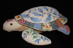 "click here to view larger image of ""Debbie"" 3-D Oriental Turtle (hand painted canvases)"