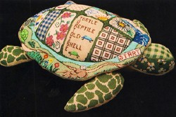 "click here to view larger image of ""Bobby"" 3-D Turtle (hand painted canvases)"