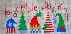 click here to view larger image of Not a Creature was Stirring (hand painted canvases)