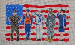 click here to view larger image of American Patriots  (hand painted canvases)