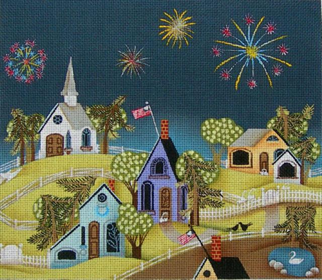 click here to view larger image of 4th of July 2 (hand painted canvases)