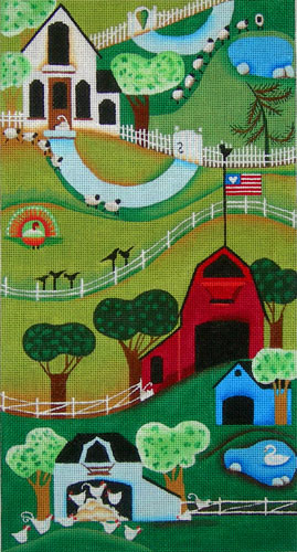 click here to view larger image of Farm Country (hand painted canvases)