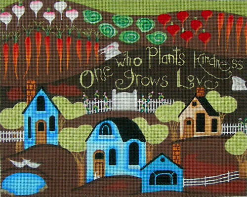 click here to view larger image of Planting Kindness (hand painted canvases)