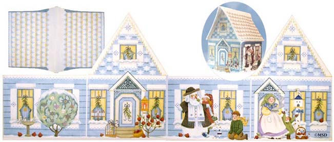 click here to view larger image of Hannukkah House (hand painted canvases)