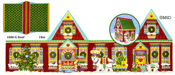 click here to view larger image of Nordic Christmas House (hand painted canvases)