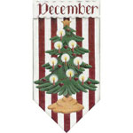 click here to view larger image of December Banner (hand painted canvases)