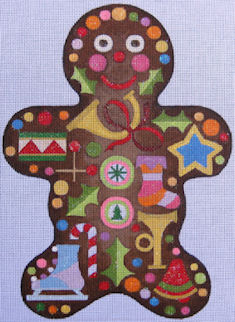 click here to view larger image of Gingerbread Man (hand painted canvases)