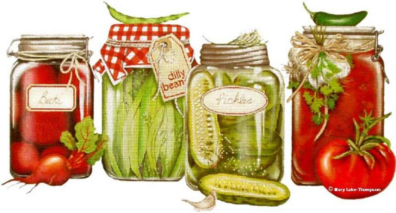 click here to view larger image of Canned Veggies (hand painted canvases)