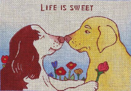 click here to view larger image of Life Is Sweet (hand painted canvases)