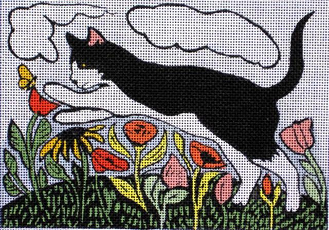 click here to view larger image of Flower Cat (hand painted canvases)