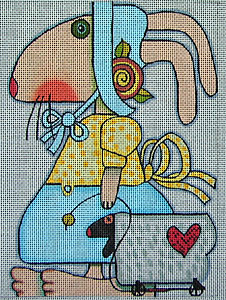 click here to view larger image of Mrs Bunny (hand painted canvases)