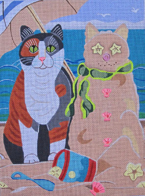 click here to view larger image of Sand Cat (hand painted canvases)