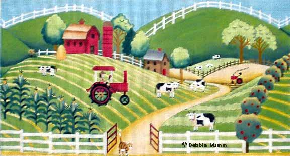 click here to view larger image of Hillside Farm (hand painted canvases)