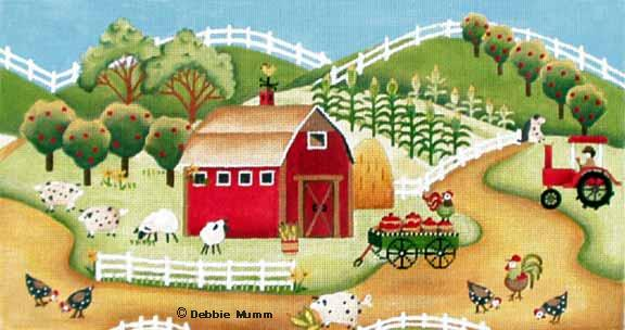 click here to view larger image of Apple Cart Farm (hand painted canvases)