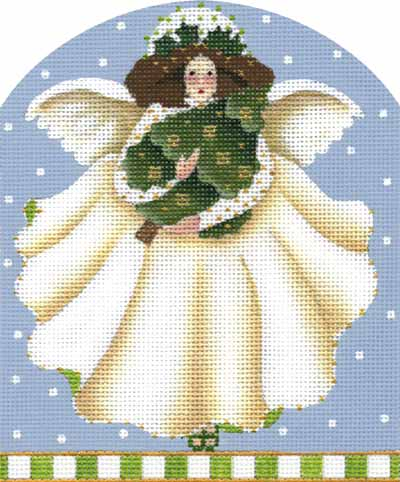 click here to view larger image of December Angel (hand painted canvases)