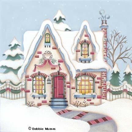 click here to view larger image of Cozy Winter Cottage (hand painted canvases)