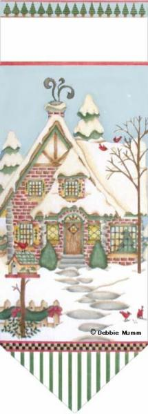 click here to view larger image of Conifer Cottage Banner (hand painted canvases)