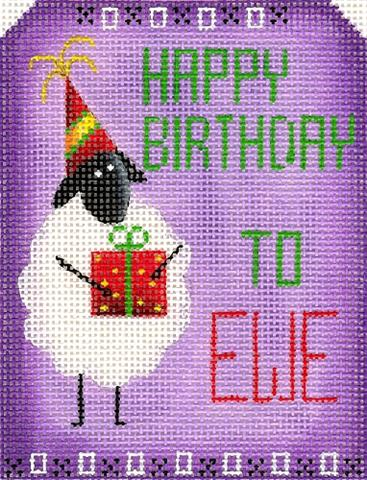 click here to view larger image of Happy Birthday to EWE (hand painted canvases)